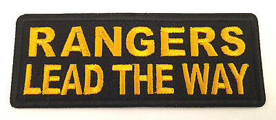 RANGERS LEAD THE WAY  Military Veteran Biker Patch  P5774 E