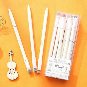 6x-Cute-Kawaii-Black-Gel-Ink-Pens-Roller-Needle-Pen-Adorable-Cat-Set-0-38mm