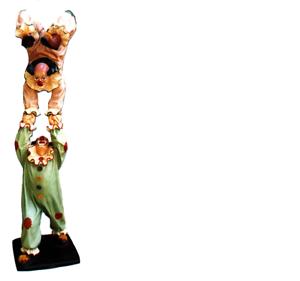 Design payaso-acróbata personaje estatua escultura figuras esculturas decoración 5020