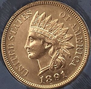 1891-INDIAN-HEAD-PENNY-4-DIAMONDS-BEAUTIFUL-PENNY-Cleaned