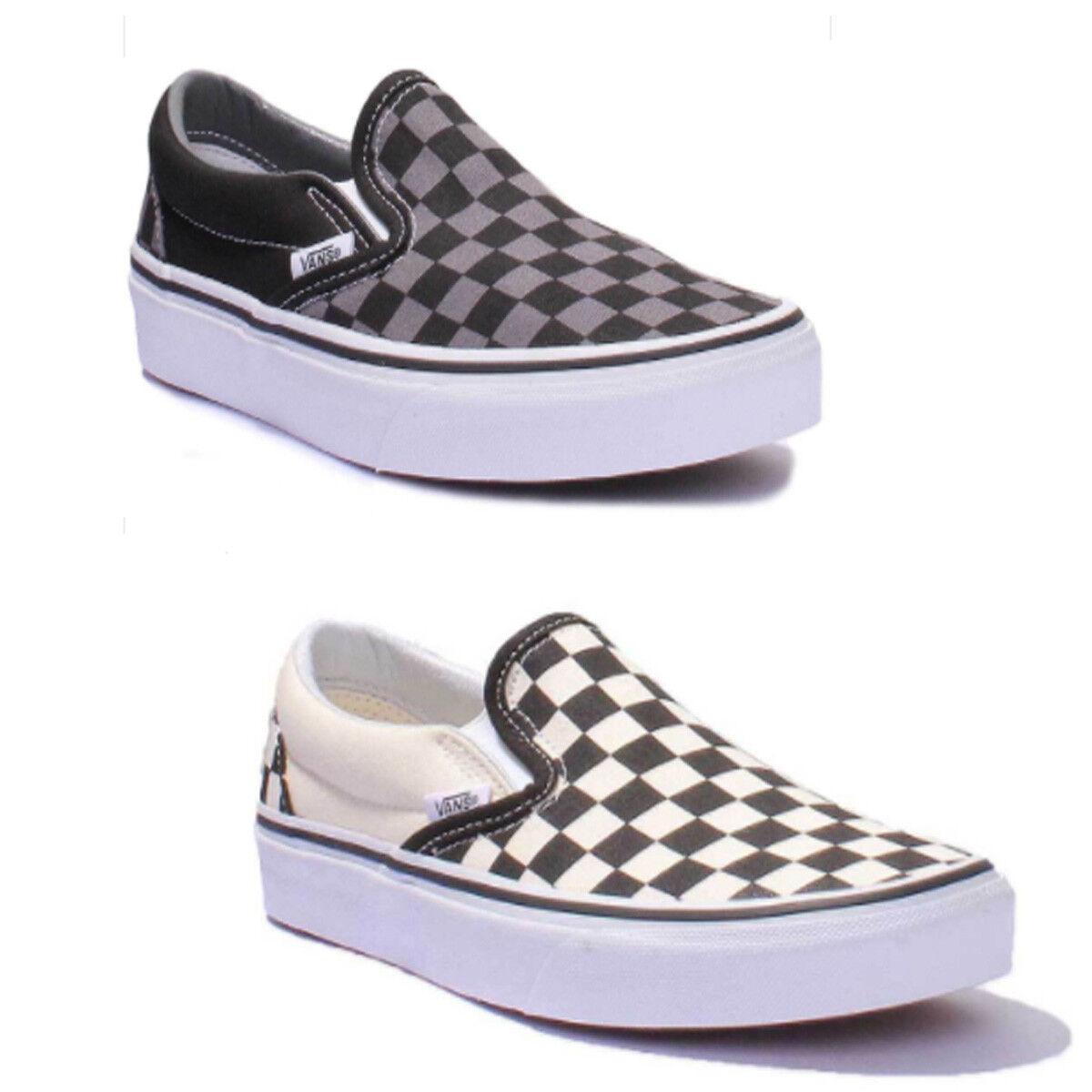 Vans Checkerboard Slip On Men Canvas Trainers 7 - 12.5