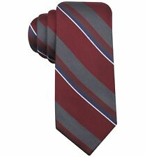 $126 RYAN SEACREST Men SKINNY BLUE GRAY STRIPE NECKTIE SLIM DRESS SILK 57 x 3