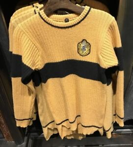 4d8a11af50e Details about Universal Studios Harry Potter Hufflepuff Quidditch Lambwool  Sweater Medium
