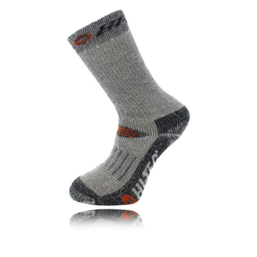 HiTec Trek Heavyweight Mens Grey Black Outdoors Walking Socks Ankle 2 Pack