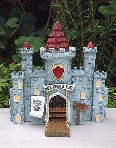 Image Is Loading Miniature Dollhouse FAIRY GARDEN House MEDIEVAL TIMES  Castle