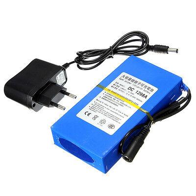 12V 9800mAh Lithium-ion  Li-ion Chargeur batterie Rechargeable Portable EU Plug