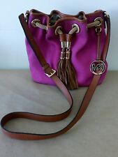 MICHAEL KORS Purse Marina Pink Drawstring Tassel Bag