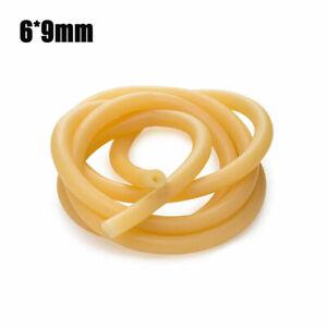 0-8m-Natuerlicher-Latex-Gummiband-Elastische-Tube-Schlauch-Rohr-6X9Mm-Durchm-Neu