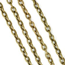 Chain Antiqued Brass Cable Link 12 FEET Wholesale Steampunk Jewelry Finding 3x5