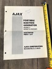 Ajax Portable Electric Generator Model A15gen A20gen Part List Vintage