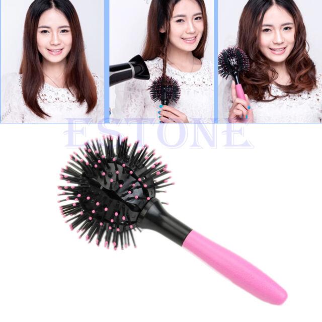 360° 3D Hair Brush Ball Style Blow Drying Detangling Salon Heat Resistant Comb