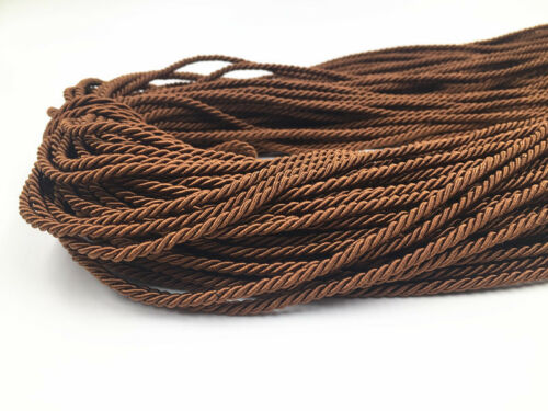 5m brown Colors Three Twisted Rope Strands of Cord for Cushion Pillow Bag