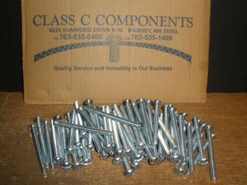 "Qty.68 1//4-20 X 3/"" Round Head Slotted Zinc Plated Machine Screw"