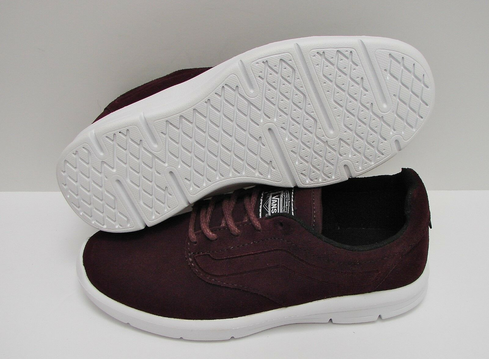 Vans Iso 1.5 Suede Iron Brown True White VN0A2Z5SM45 VN0A2Z5SM45 VN0A2Z5SM45 Women's Size  10 0ba365