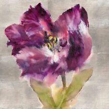 Morning Bloom I  Keilrahmen-Bild Leinwand Mohn Blumen lila Brent Heighton