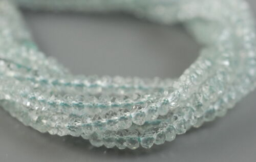 """3X2MM SKY BLUE TOPAZ  GEMSTONE GRADE AA FACETED RONDELLE LOOSE BEADS 13.5/"""""""