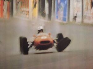 Formula 1 Original Vintage Poster 1968 Crash Race Car Red Accident