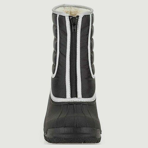 Clarks Neige infantile garçons filles enfants ados Boots Bottes Noir Hiver Imperméable//