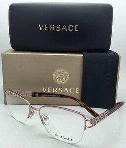 b655854d6a9 New VERSACE Eyeglasses 1220-B 1052 52-16 Copper   Tortoise Frames ...