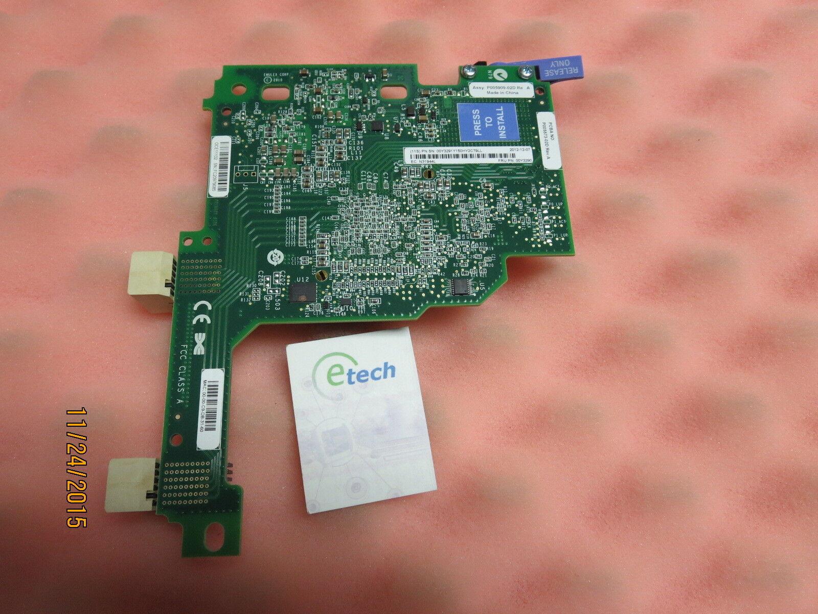 00Y3264 90Y9332 - Emulex 10GbE VFA Advanced II for BladeCenter HS23, FRU 00Y3290