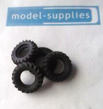 Corgi reproduction black  treaded rubber tyres for Unimog (set of 4)