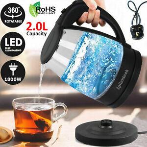 2-0L-illuminated-Glass-Kettle-Blue-LED-360-Cordless-Electric-Jug-Portable-Design