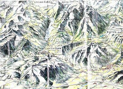 Berchtesgadener Land Landkarte Aus 1966 & Beschriftetes Panorama, Stadtplan