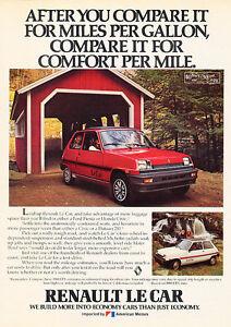 1980 Renault Le Car Puddle Classic Vintage Advertisement Ad D23