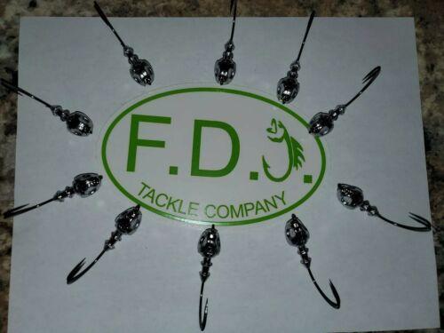 5//0 Mustad Hooks Model 32786BLN 10 1 oz poison tail jigs