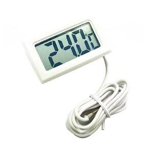 Cy/_ Mini Car Digital LCD Temperature Thermometer Meter Tester Temp Sensor Probe