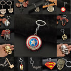 Hot Retro Marvel The Avengers Captain America Thor Charms Keychains Keyrings