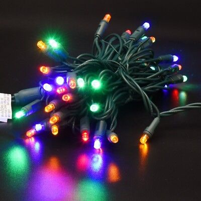 Ul Listed 50 Count Mini Led Christmas Tree Lights Multi Color String Ebay