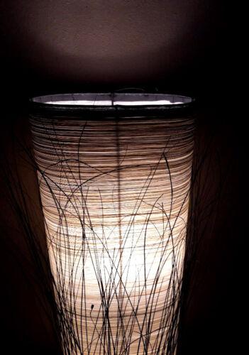 Insolito Marrone Crema FILO D'ORO CILINDRO ALTO Lampada Lampada da terra Lampada da tavolo 100cm
