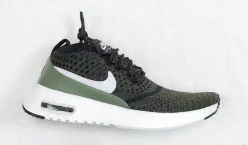 chaussures flyknit nike air max thea ultra flyknit chaussures vert foncé 881175-300 blanche taille 9,5 199e12