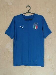 Details about Italy national team 2018 training football shirt jersey Puma coton size M