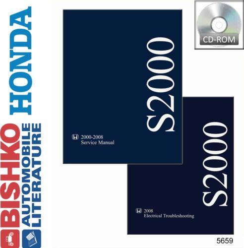2005 2006 2007 2008 Honda S2000 Shop Service Repair Manual CD Engine Drivetrain