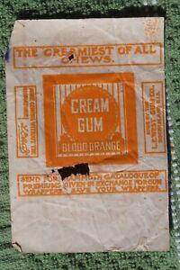 West's Blood Orange Cream Gum Wrapper L.E. West Rock Island Illinois Advertising