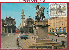 ITALIA MAXIMUM MAXI CARD PIAZZA SAN CARLO TORINO 1987 B459