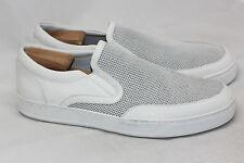 NEW Mens VINCE Archie Slip On Sneaker - White w/ Mesh Panel - 11.5M / 45.5 (S92)