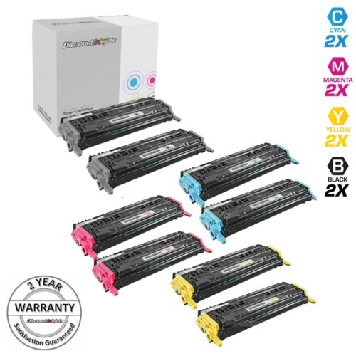 8pk Q6000A Q6001A Q6002A Q6003A Toner Cartridge for HP