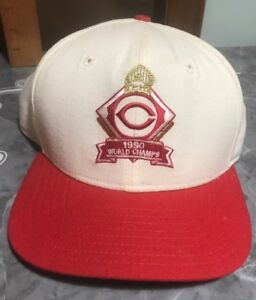 competitive price 993f9 482b5 Image is loading New-Cincinnati-Reds-1990-MLB-World-Champs-Snapback-