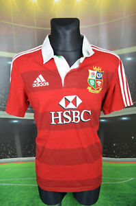 British Lions Adidas Rugby Union Shirt (L HOMME) haut en jersey trikot Red Polo
