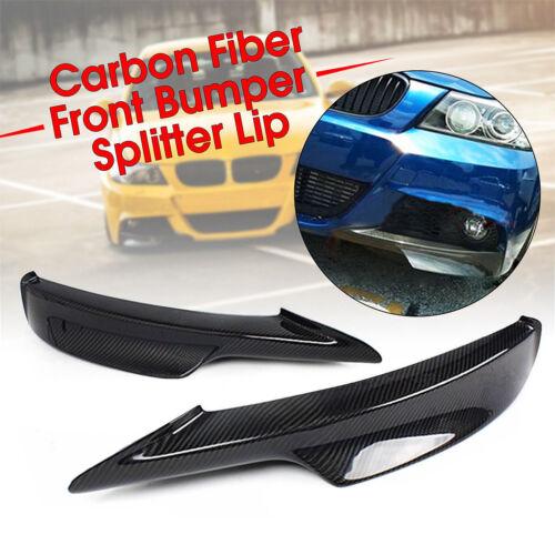 Carbon Fiber Front Bumper Splitter Spoiler FOR 09-11 BMW E90 E91 3 SERIES M TECH