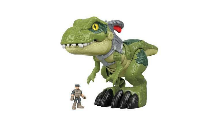 Imaginext Jurassic Mega Boca TREX Rex Forward World, Figura Nueva Marca Chomp The