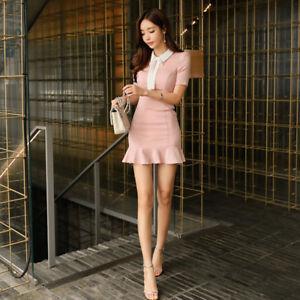 5fcc7bf59025 Caricamento dell immagine in corso Elegante-vestito-abito-tubino-rosa-cipria -evento-corto-