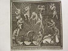 Antiguo Caza impresión ~ cómo las parejas Cuerdas redes para la caza se hicieron