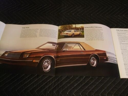 1983 Dodge Mirada Original Sales Brochure