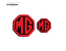 MG ZT MK1 Badge Inserts Front Grill Rear Badges Fits Emblems 59mm 40mm Black Red