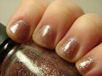 Icing Nail Polish Lacquer In At Dusk Sweet Pinkish Glitter