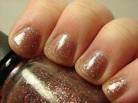 Icing Nail Polish Lacquer In At Dusk Sweet Pinkish Glitter